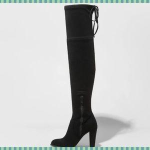 1bb0fddcf22 Women s Nikka Heeled Over the Knee Sock Boots ...